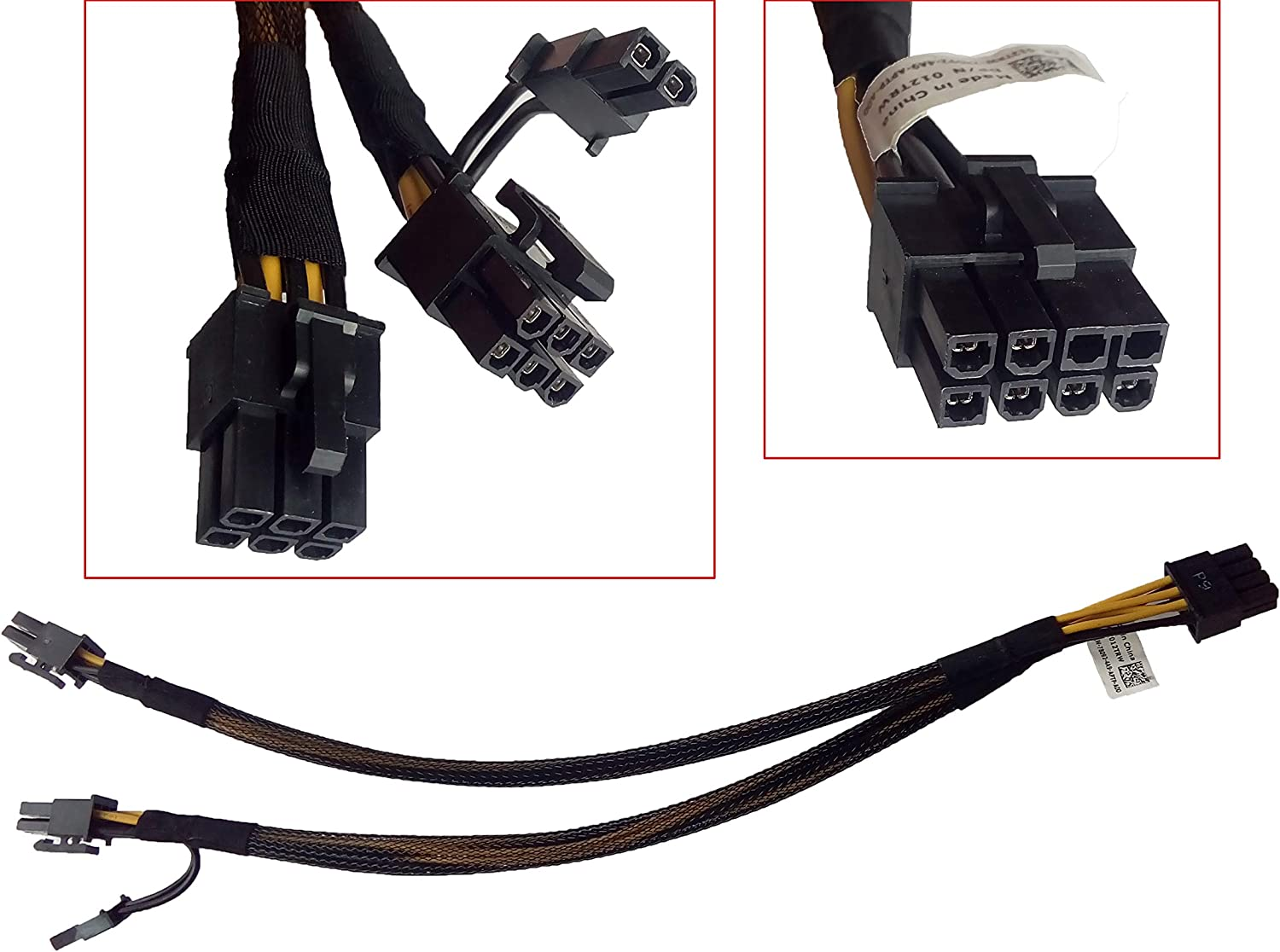 8pin to 8+6pin Power Cable for DELL T5610 and NVIDIA GeForce GPU 50cm