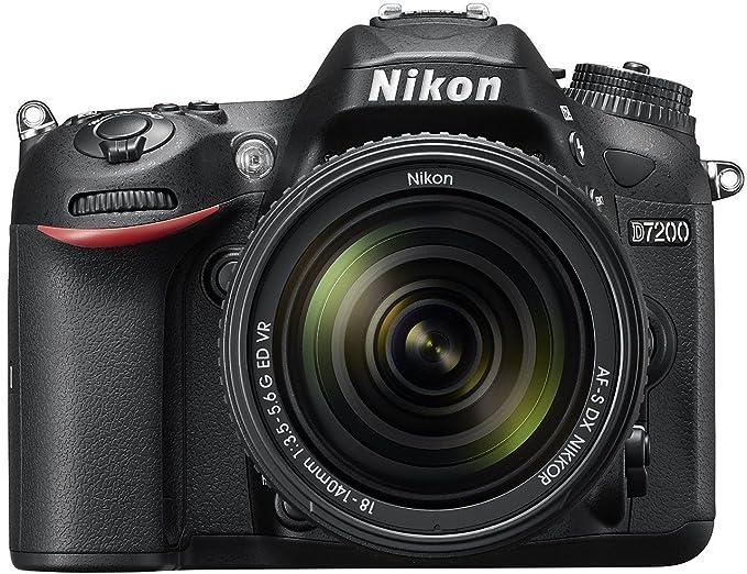 Nikon D7200 24.2 MP Digital SLR Camera  Black  with AF S 18 140mm VR Kit Lens and 16 GB Card, Camera Bag Digital SLR Cameras