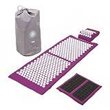 Kit d'acupression VITAL XL DELUXE SPIKY - tapis XL + coussin + tapis pour les pieds SPIKY + sac de transport
