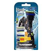 Wilkinson Sword Hydro 5 Power Select Vorteilspack Transformers Edition mit 4 Klingen + Rasierer gratis
