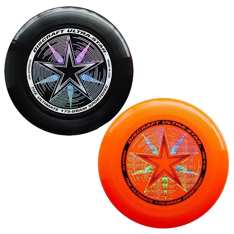 Discraft 175 gram Ultra Star Sport Disc - 2 Pack (Black & Orange) by Discraft