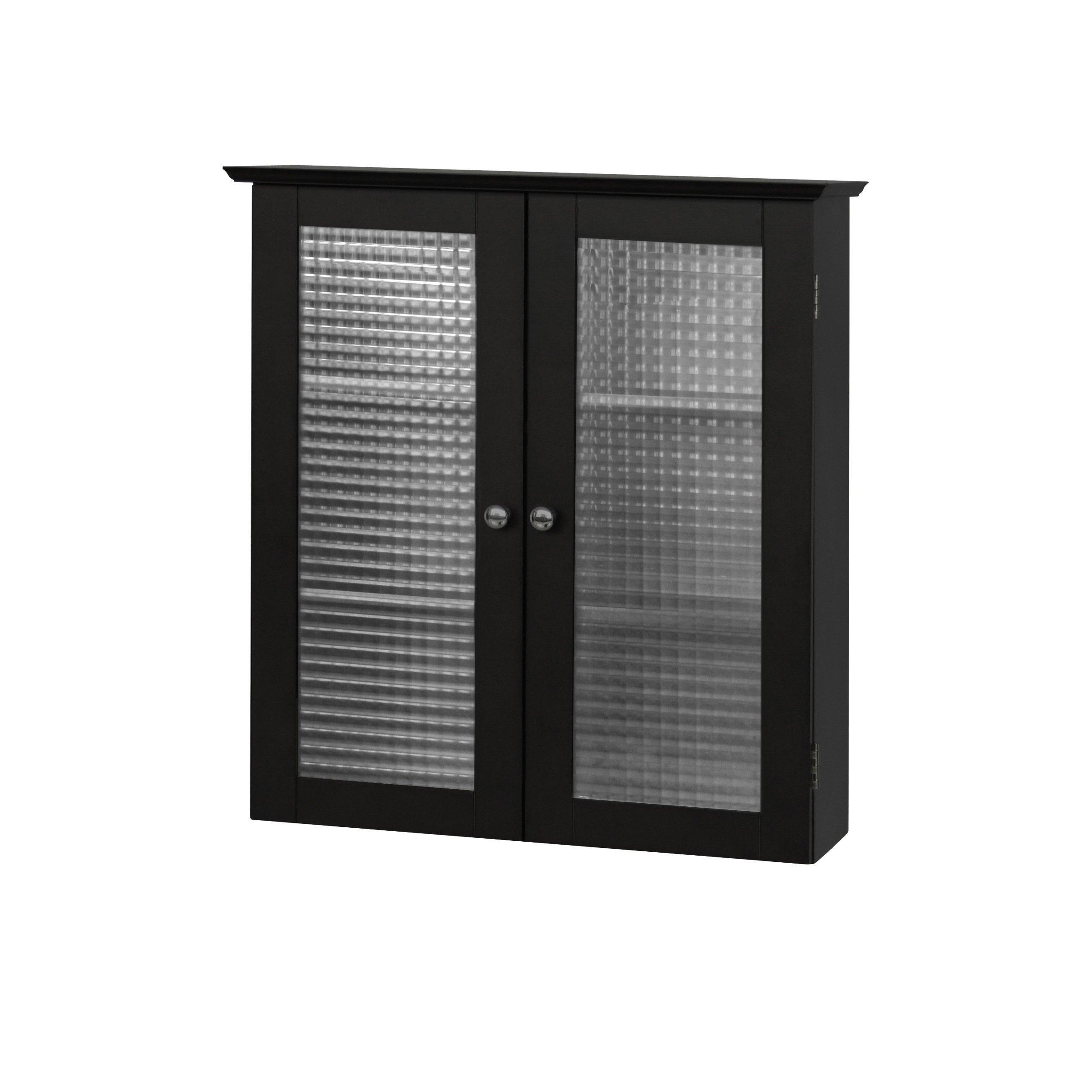 Elegant Home Fashions Chesterfield Wall Cabinet with Two Glass Doors by Elegant Home Fashions (Image #3)