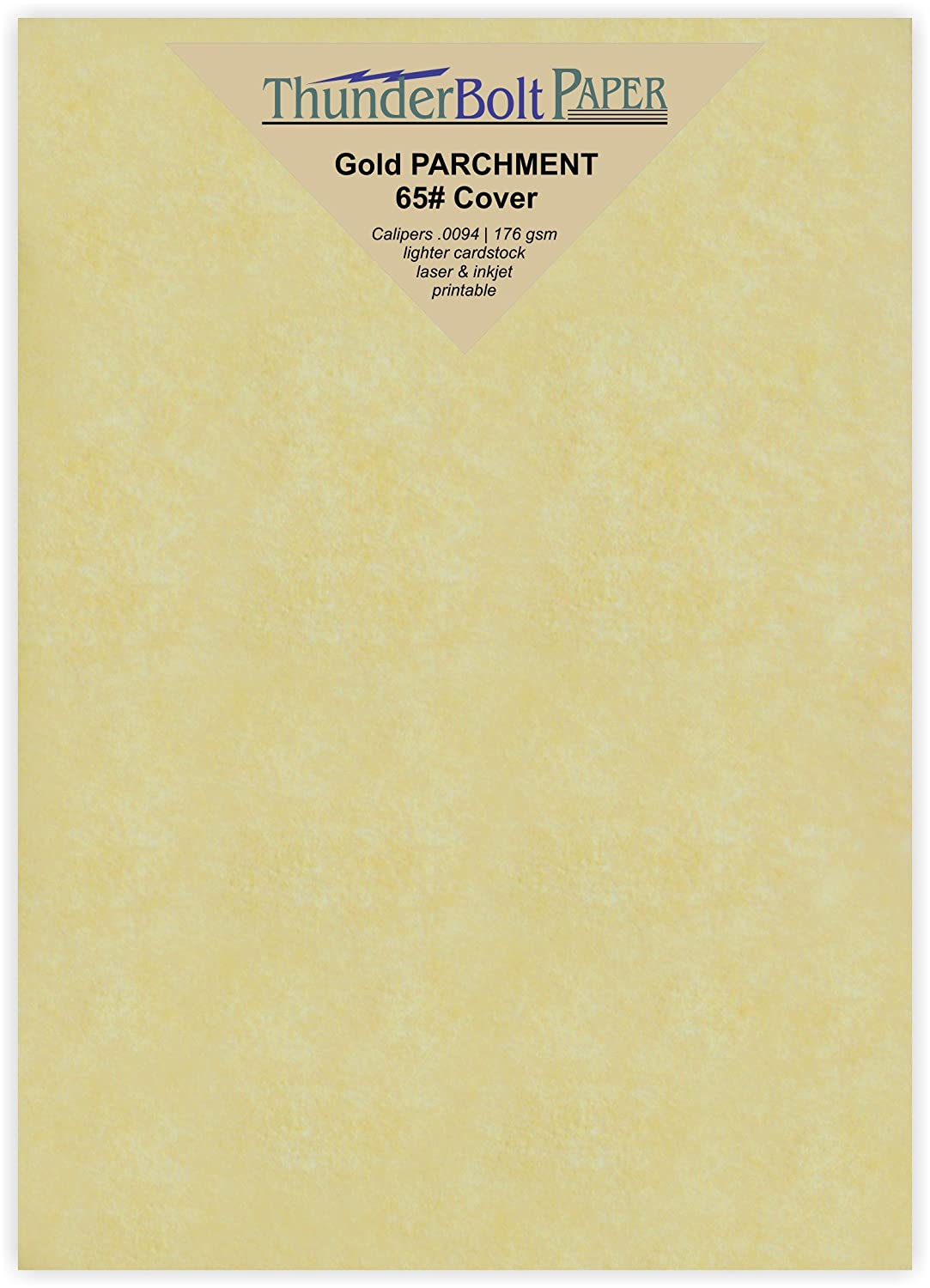 Printable Cardstock Colored Sheets Old Parchment Semblance 5X7 Inches 100 Gold Parchment 65lb Cover Weight Paper Photo|Card|Frame Size 5 X 7