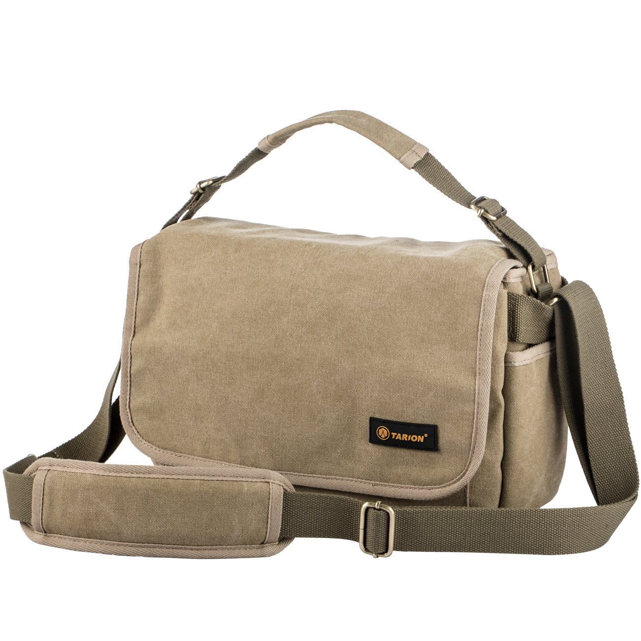 TARION RS-01 Camera Bag Shoulder Bag Case Water Repellent Canvas Massenger Bag DSLR Camera Mirrorless Yellow