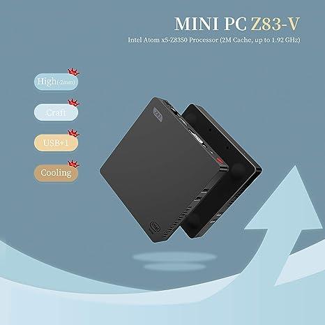 SeeKool Z83-V Mini PC Ordenador de sobremesa Soporte Windows 10 ...