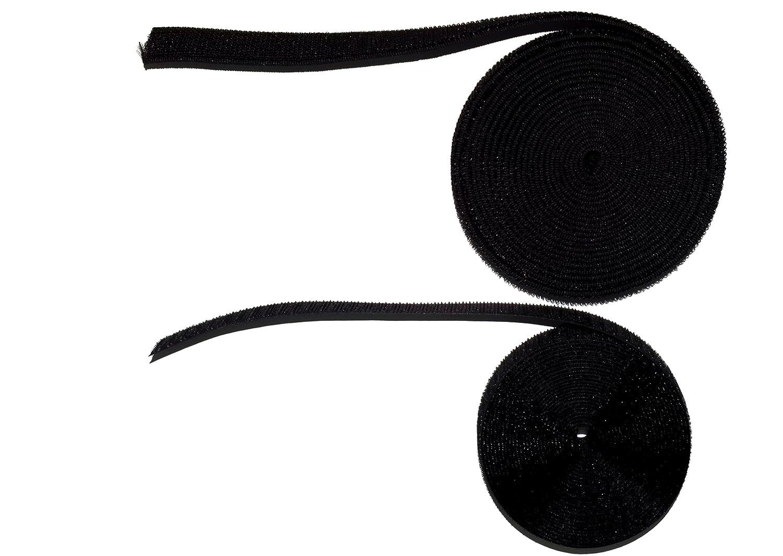 5metri di velcro elastico, la parte femmina) + 5metri di velcro da cucire normale, maschio) in Nero di cose