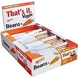 Black Bean + Carrot That's It. Veggie Bars | Natural Great Tasting Healthy 100% Real Veggie Snack | 4g Protein, Vegan, Gluten Free, Paleo, Kosher, Non GMO, No Preservatives, 90 Calories | 12 Bars