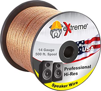 Premium 18 Gauge 50/' ft Classic Clear SPEAKER WIRE Cable Car Audio Home Stereo