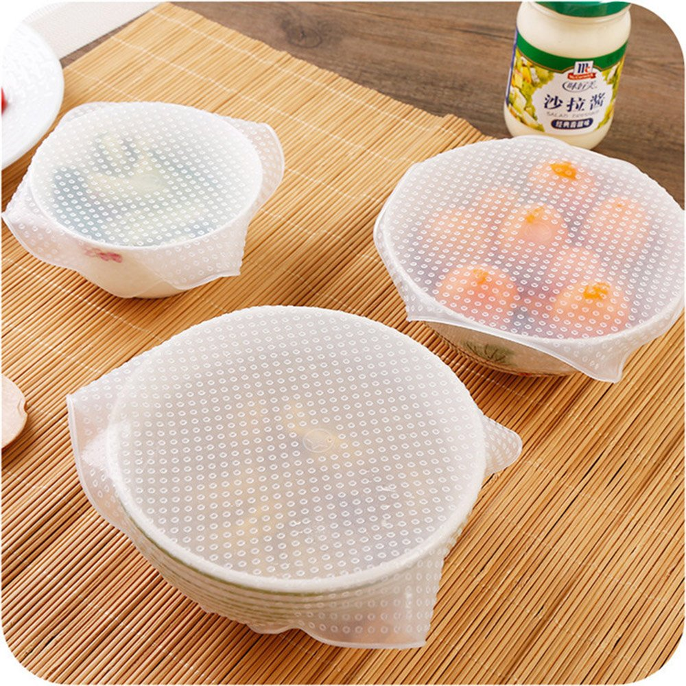 Pack of 8/ Reusable Cling Film Elastic Silicone Cover yh008