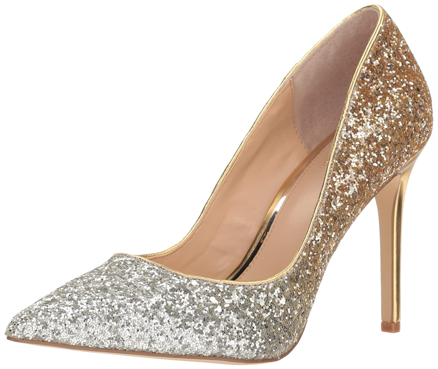 Badgley Mischka Jewel Women's Malta Pump B07822SRPW 7 B(M) US|Silver/Gold