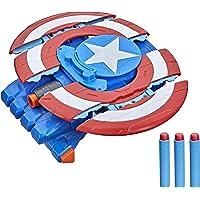 Marvel - Avengers - Captain America Strikeshot Shield - Mech Strike Role Play Toy - Nerf Dart Blasting with 3 Nerf…