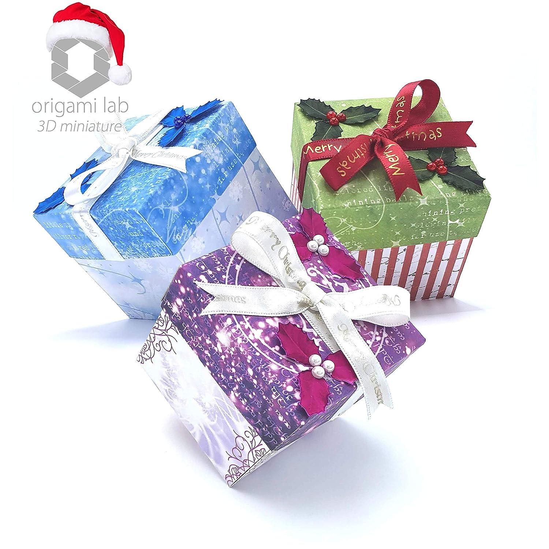 Segnaposto per la tavola fatto a mano di carta Particolare come piccolo dono Ottimo regalo di Natale economico Originale Biglietto di Auguri Natalizio 3D Miniature