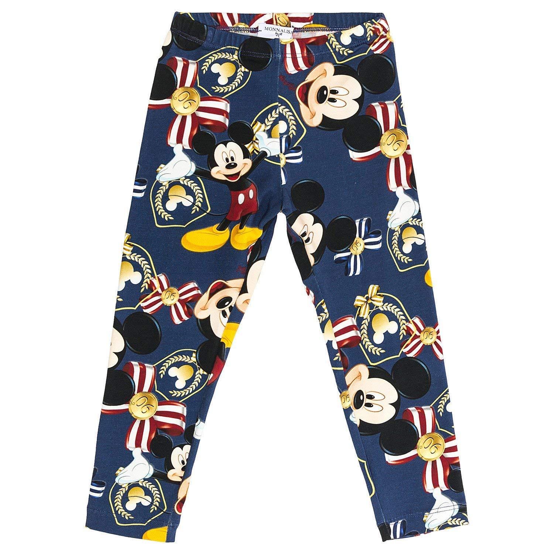 Leggings MONNALISA Blu Stampa Mickey Mouse Anniversary