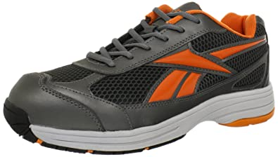 Reebok Work Mens Ketee Rb1630 Industrial and Construction Shoe  PewterPumpkin