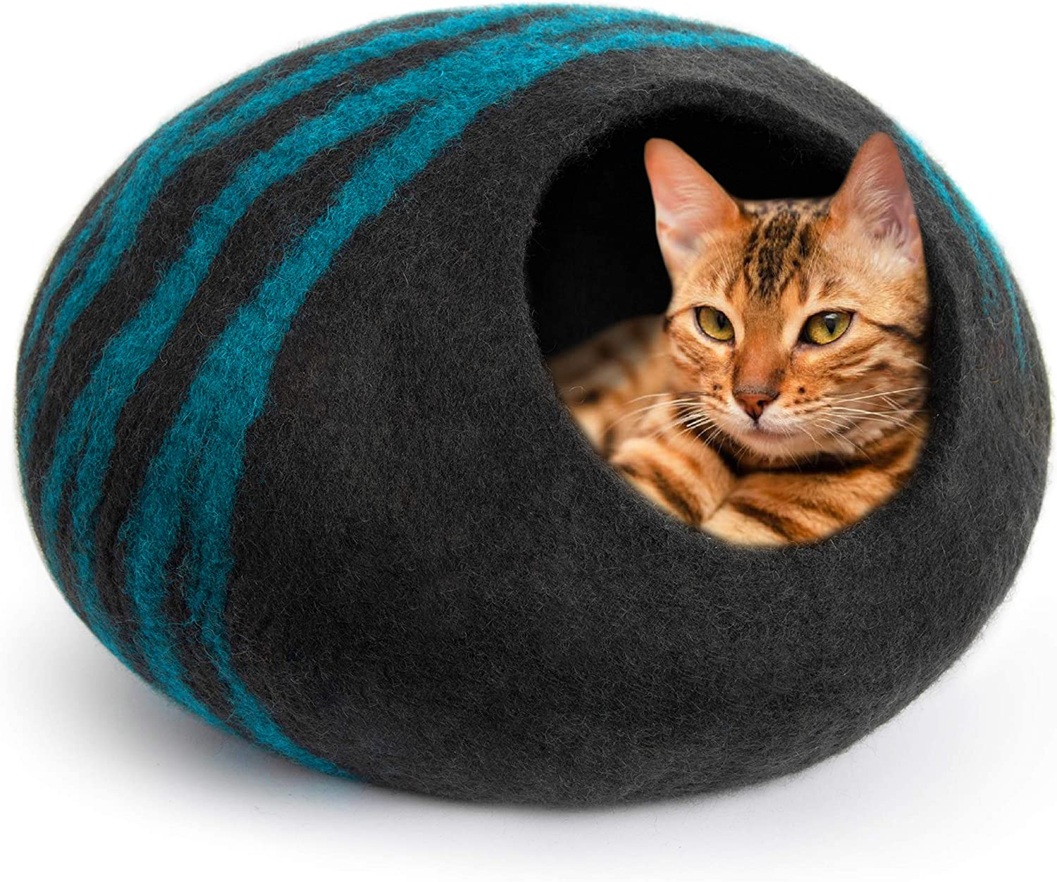 Wool Felt Whale  Design Cat Bed FREE SHIPPING Fair Trade Choose from three Amazing design Felt Cat Cave 100/% Wool and Handmade
