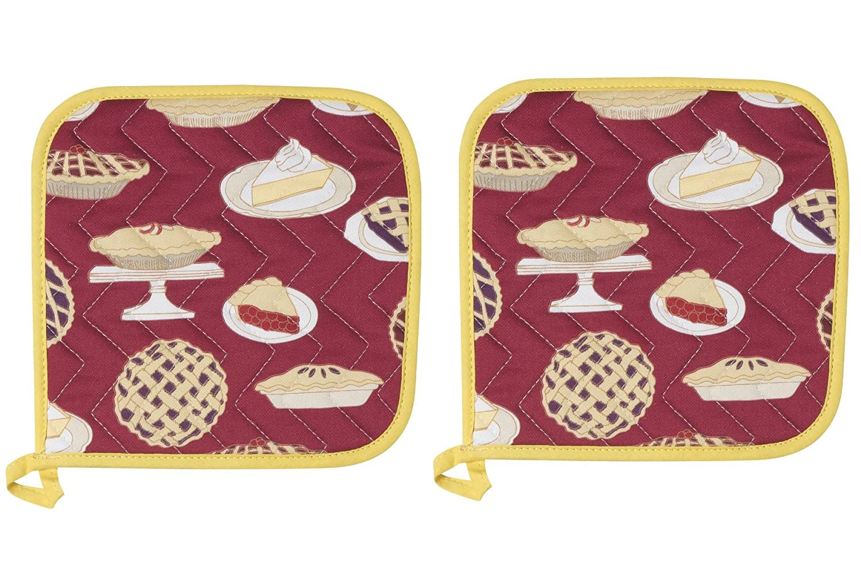 Now Designs Basic Potholders, Set of Two, Hot Sauce Danica Imports Ltd 505874aa