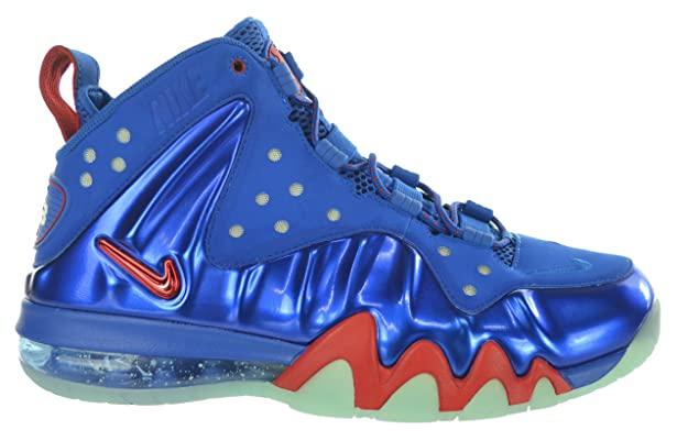 online store b4242 23422 Amazon.com   Nike Air Max Barkley Posite Max 76ers Men s Shoes Energy Blue  Fire Red 555097-300-9   Basketball
