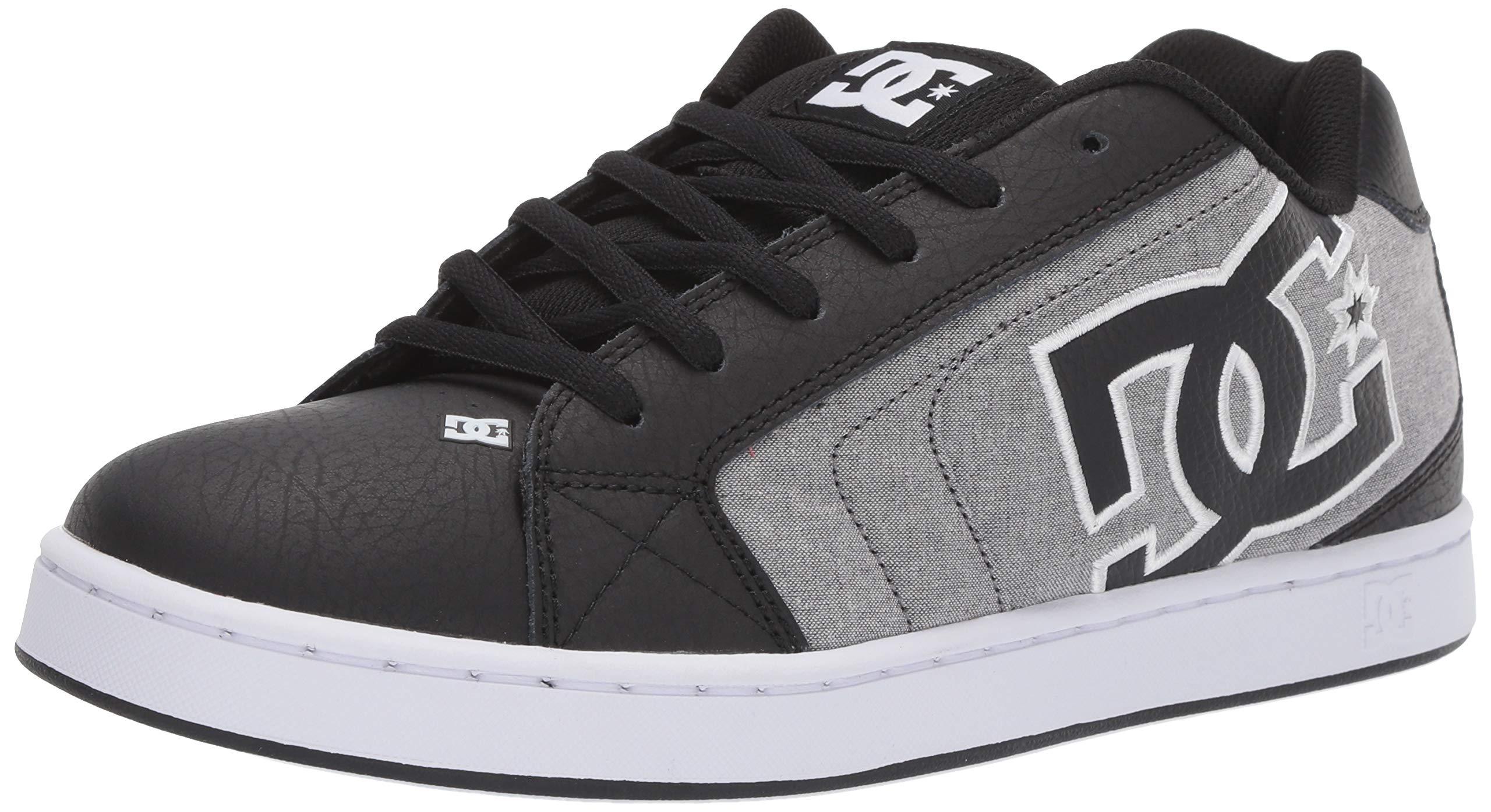 DC Men's Net Se-K Skate Shoe, Black/White, 9 M US