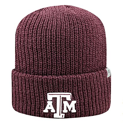 bf97cec2 Texas A&M Aggies Official NCAA Heavy Cuffed Knit Beanie Stocking Hat Cap  261823