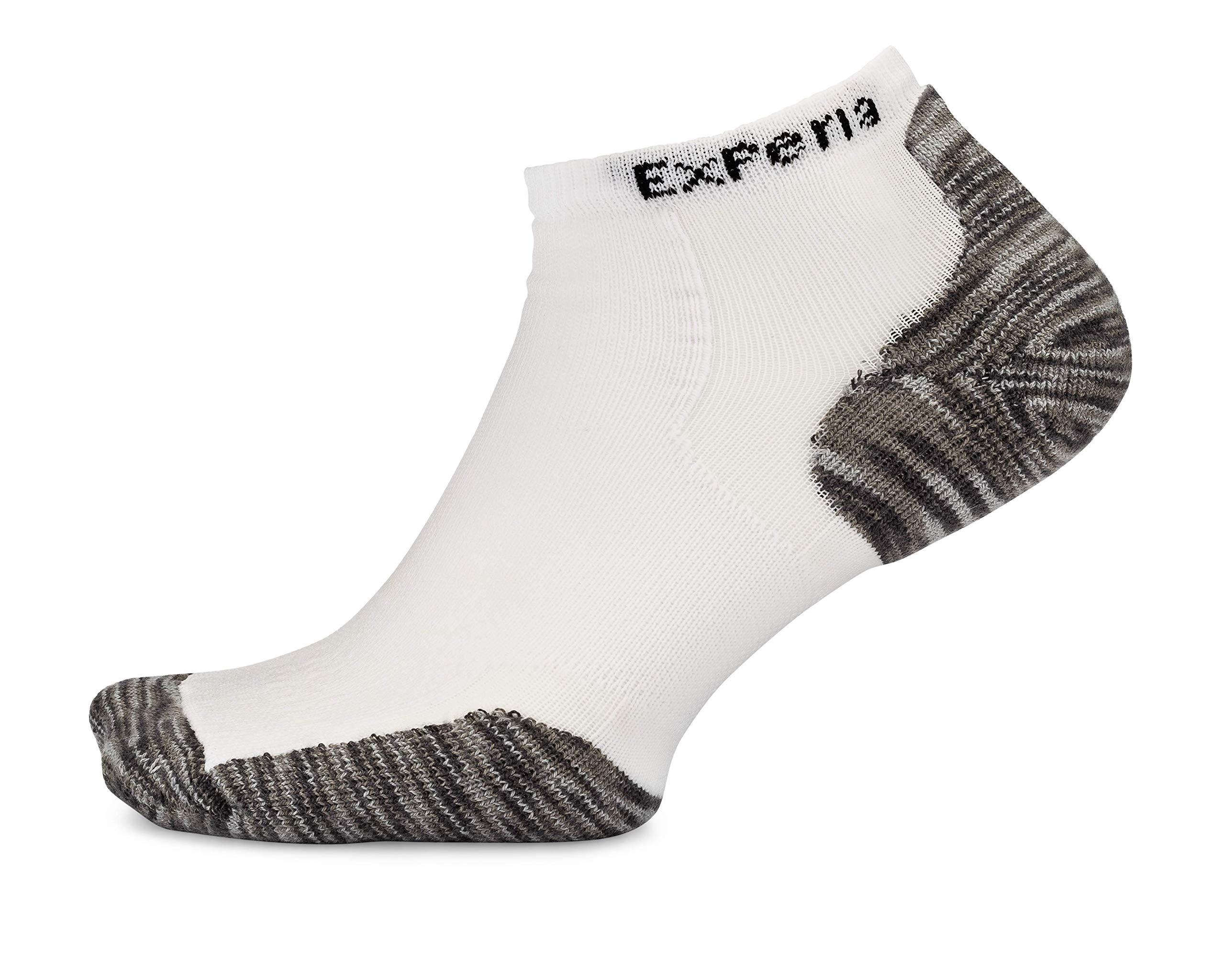 Thorlos Experia XCCU Thin Cushion Running Low Cut Sock, Tiger Paw White/Grey, S by Thorlos Experia