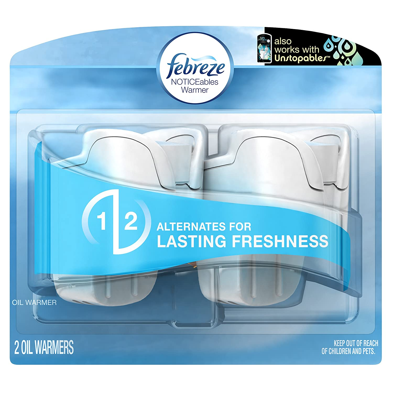 Febreze Noticeables Dual Scented Oil Warmer, 1.75-Ounce, 2 Count 3700022849