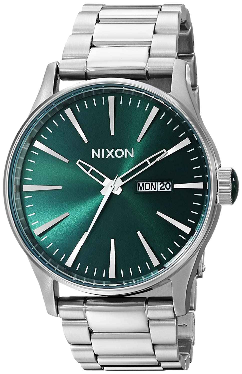 Nixon A3561696 Stainless Steel Mens Watch B00GMEGVNS Green Sunray Green Sunray