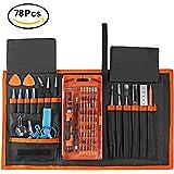 Zacfton 78 in 1 Magnet Präzisions Schraubendreher Set Reparatur Tool Kit für Pad, iPhone, Laptop, PC, Smartphones, Uhren, Brillen und andere Geräte mit Beweglicher Tasche