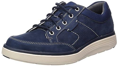 Clarks Un Abode Lace, Zapatos de Cordones Derby para Hombre, Gris (Grey Nubuck), 45 EU