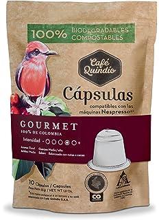 Coffee Capsules Nespresso compatible, Coffee Quindio Gourmet Capsules,100% Colombian Coffee,Medium