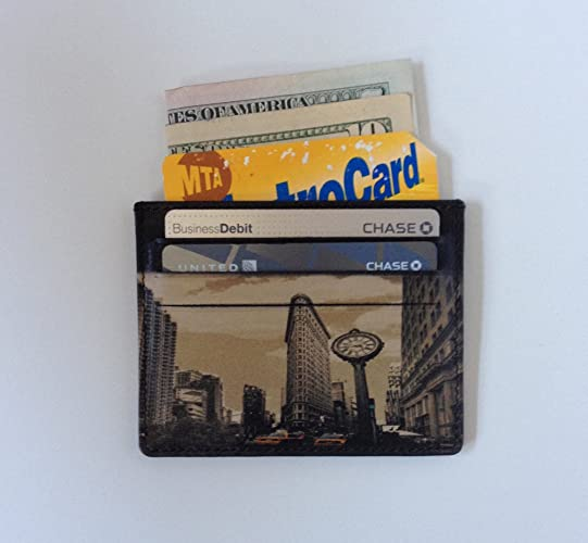 Amazon credit card holder with new york city image leather card credit card holder with new york city image leather card case reheart Image collections