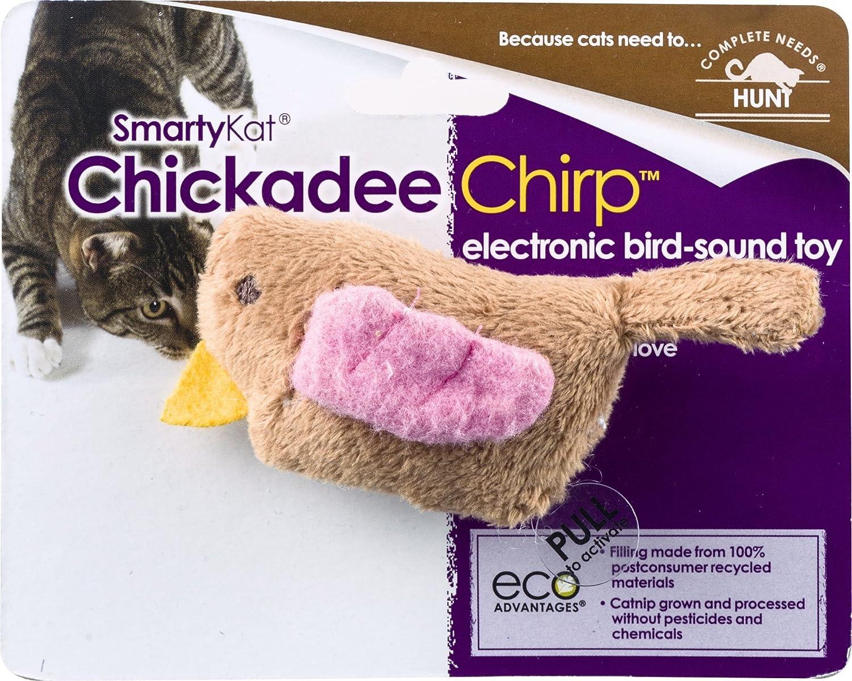 smartykat chickadee chirp cat toy