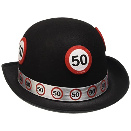 Traffic Sign 50th Black Bowler Hat