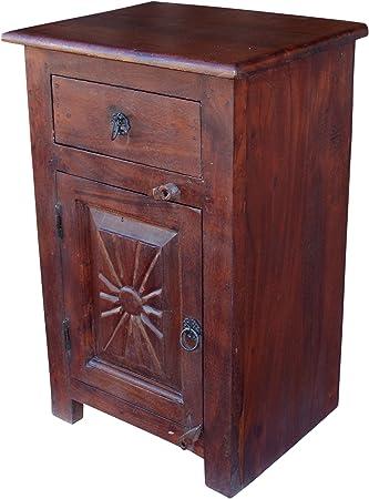 Guru Shop Beistellschrank Kommode Nachttischschrank Im Kolonialstil 64x40x30 Cm Kleine Schranke