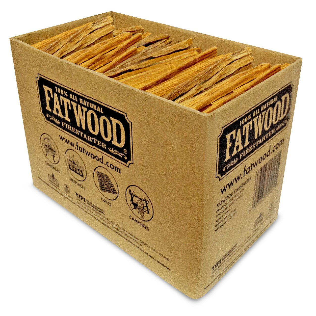 Better Wood Products Fatwood Firestarter Box, 25-Pounds by Better Wood Products