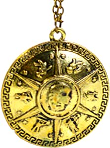 Beaux Bijoux Percy Jackson Collar–Los Héroes de Olympus Percy Jackson mar de Monstruos Escudo Colgante