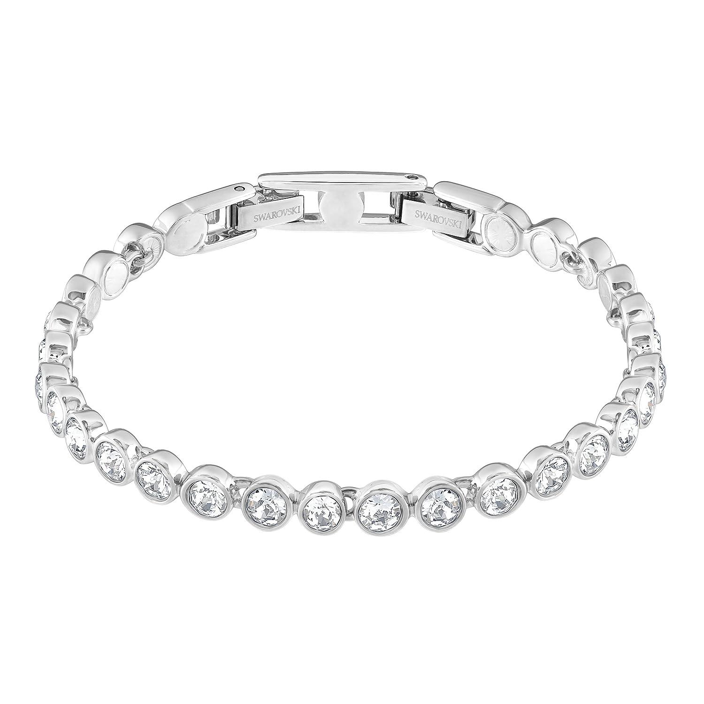 Swarovski Women s Rhodium Plating and White Crystal Tennis Bracelet   Swarovski  Amazon.co.uk  Jewellery afcf5d374