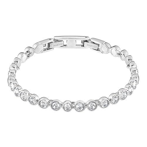 270c2377b230 Swarovski Women s Rhodium Plating and White Crystal Tennis Bracelet   Swarovski  Amazon.co.uk  Jewellery