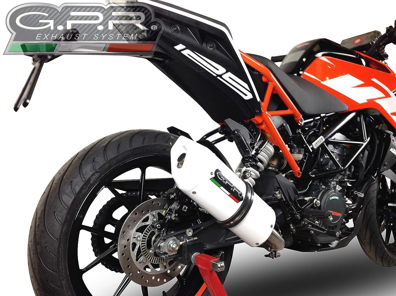 Fune KTM RC 125/2017//18/homologiert-Auspuff System GPR KTM 81