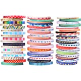 52 Rolls Washi Tape,Foil Gold Skinny Decorative Masking Washi Tapes,3MM Wide DIY Japanese Masking Tape Supplies