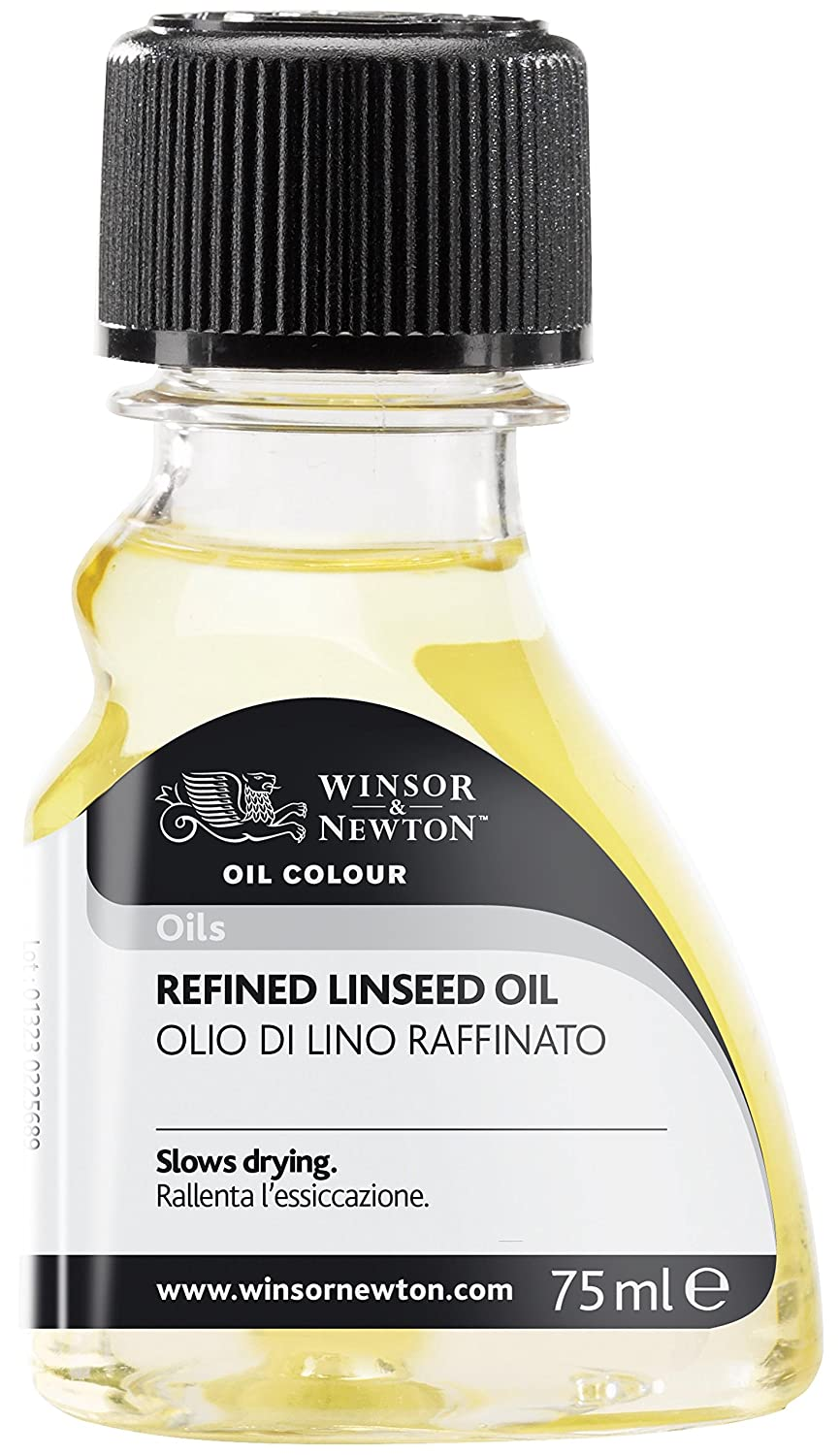Winsor and Newton Oil Colour Refined Linseed Oil 75ml (Bttl) Colart 3021748