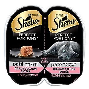 Sheba Perfect Portions Premium Pate Salmon Entrée Twin Pack Wet Cat Food, 2.6 Oz