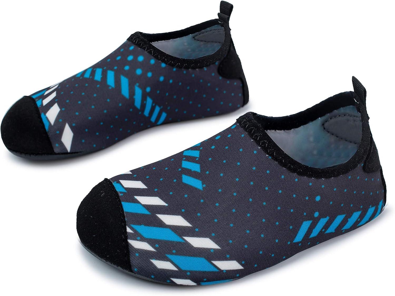 L-RUN Kids Swim Water Shoes Barefoot Aqua Socks Shoes for Beach Pool Surfing Yoga
