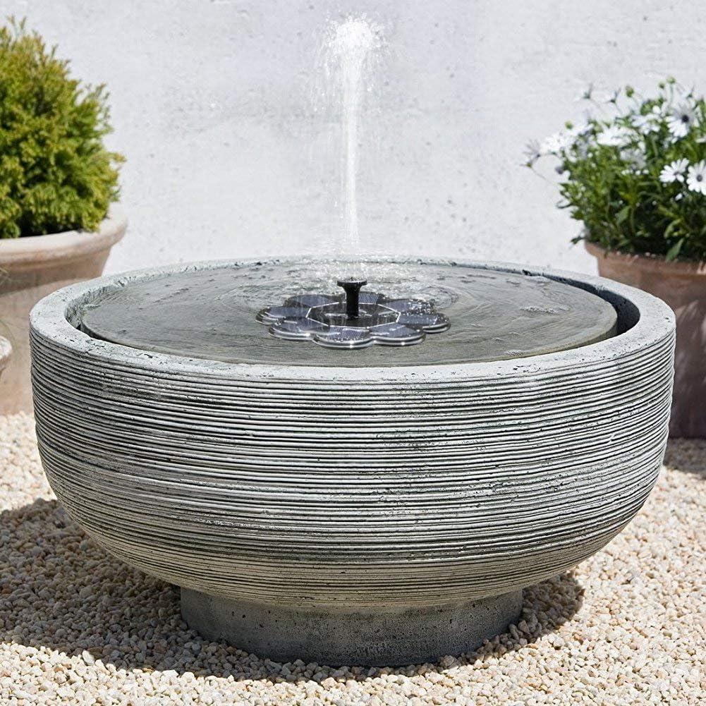 pinghub Solar Springbrunnen Mit Licht Springbrunnen Solar Garten Solar Wasser Brunnen Schwimm Solar Wasser Brunnen Solar Brunnen Kit