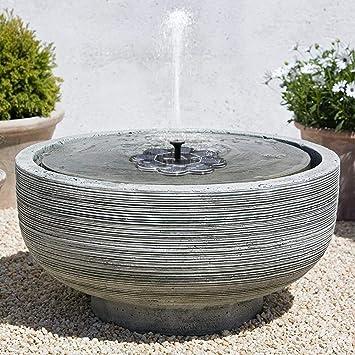 NOUVEAU] Fontaine Solaire, 1.6W Fontaine Extérieur de Jardin ...