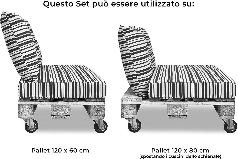 mariotti Cuscini per Pallet 120x80cm Seduta e Schienale in