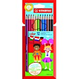 STABILO color - Étui carton de 12 crayons de couleur