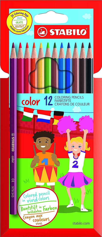 STABILO color matite colorate colori assortiti - Astuccio da 12 Stabilo International GmbH 1912/77-11