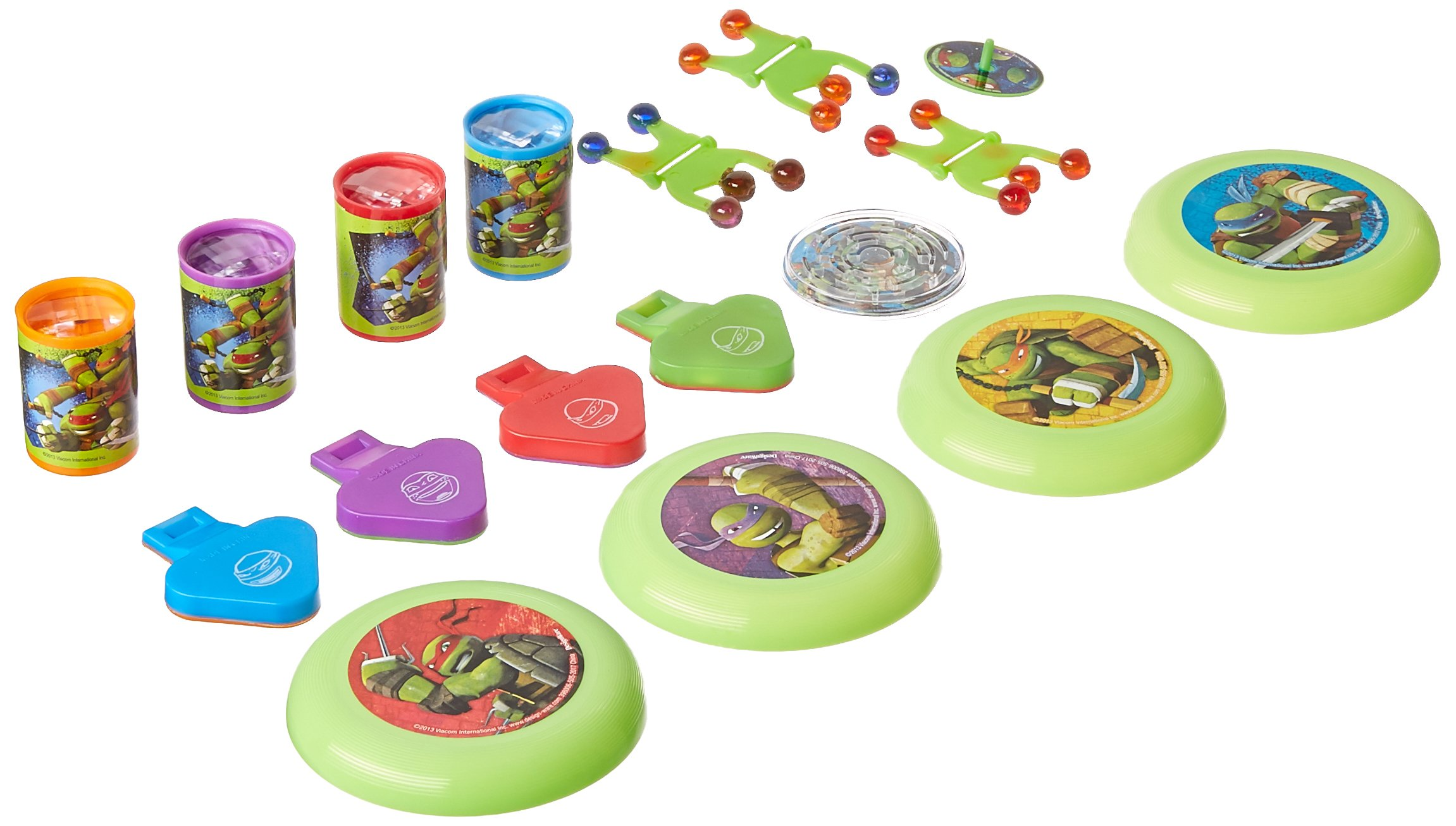 Amscan Totally Tubular Teenage Mutant Ninja Turtles Mega Mix Assorted Plastic Pack 48 Party Favours , 288 Pieces