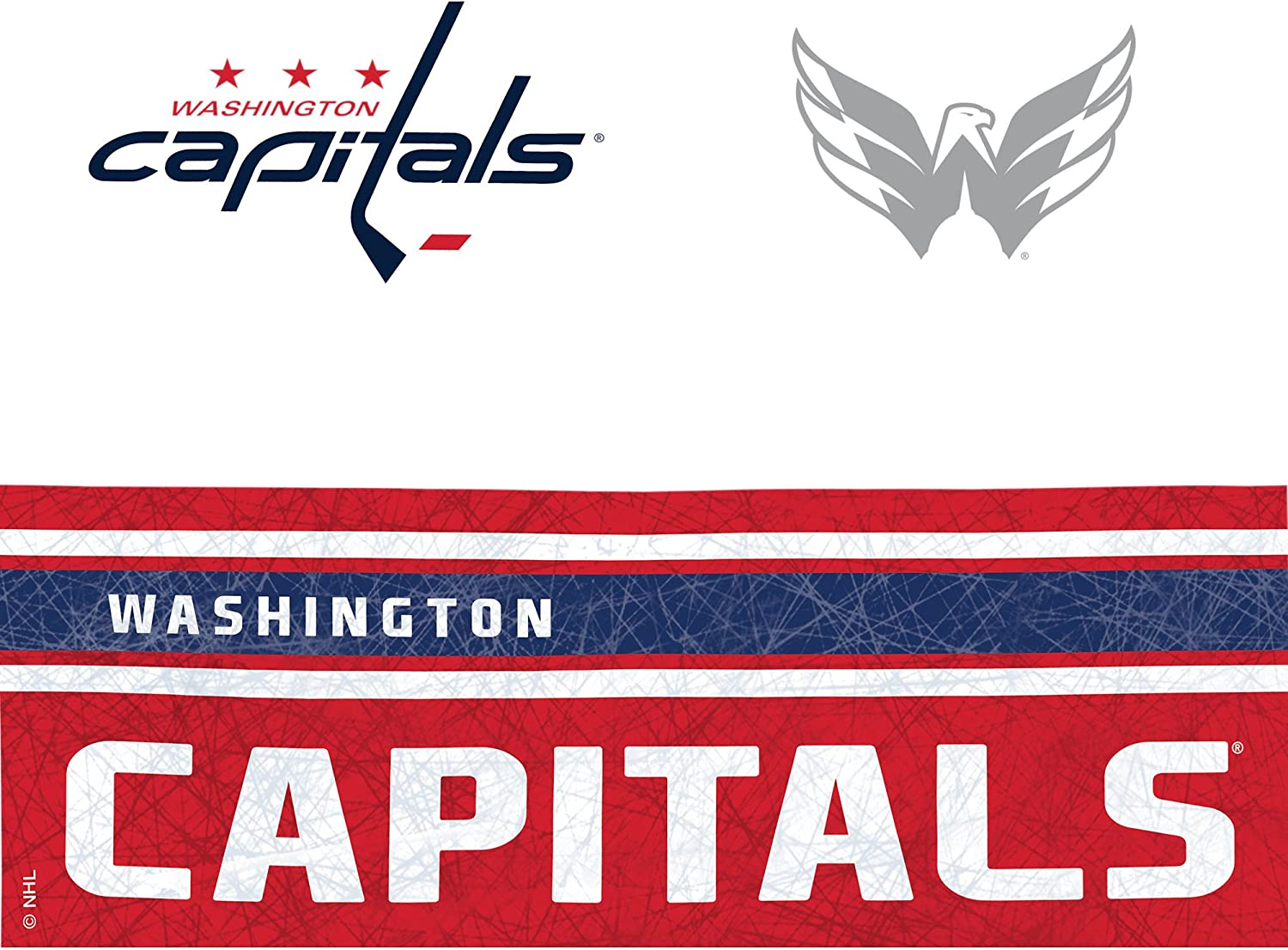 Tervis 1231003 NHL Washington Capitals Tumbler with Wrap and Red with Gray Lid 24oz Water Bottle Clear