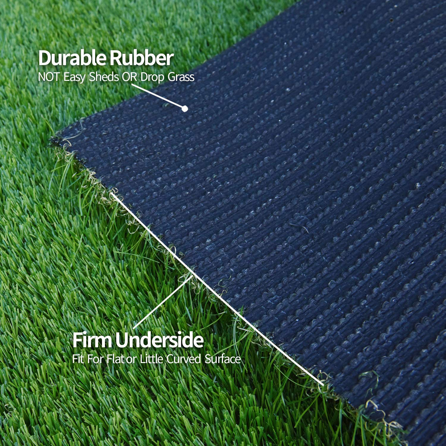 RoundLove Artificial Turf Lawn Fake Grass Indoor Outdoor Landscape Pet Dog Area (40X80 in) by RoundLove (Image #6)